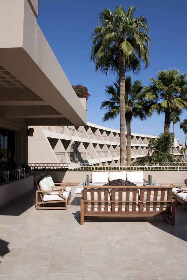 Patio extérieur d'hôtel de ressource de l'Arizona images stock