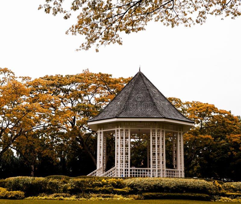 Patio iconico nei giardini botanici di Singapore fotografie stock libere da diritti