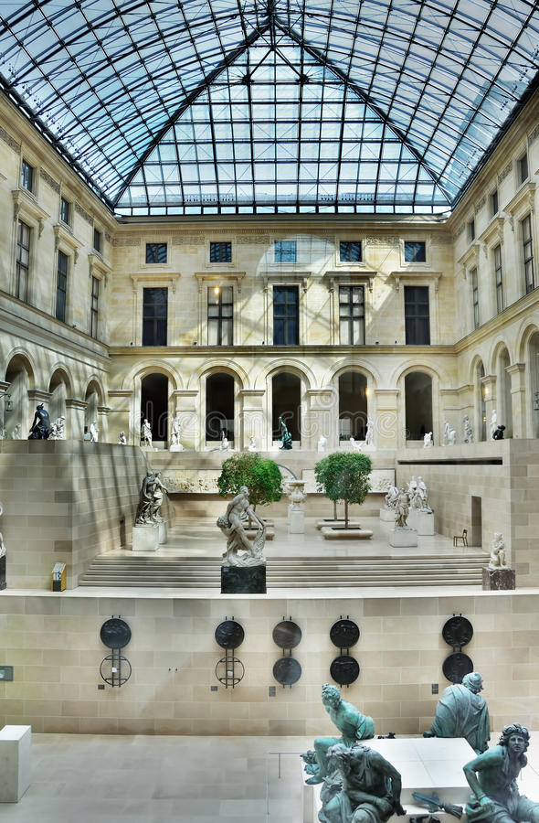 Patio inside Louvre, Paris, France