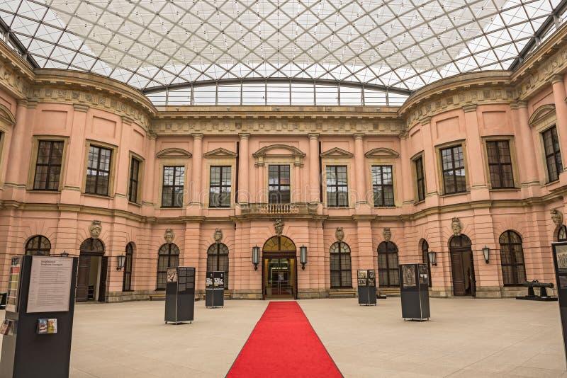 Patio interno del museo histórico alemán foto de archivo