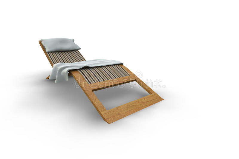 Patio Lounger royalty free illustration