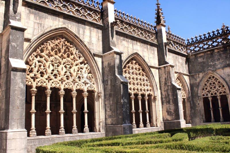 Patio in monastero domenicano in Batalha, Portogallo immagini stock libere da diritti