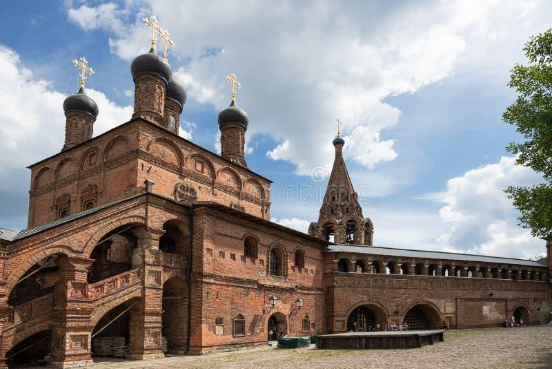 Patio patriarcal antiguo del claustro de Krutitsy en Moscú fotografía de archivo libre de regalías