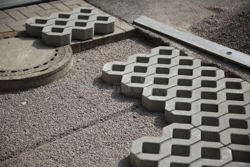 Patio Paving Blocks On Sand Stock Photo - Image: 14934618