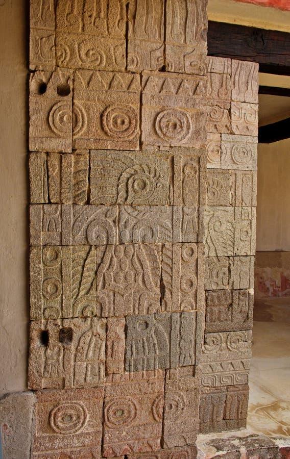 Patio of the Pillars Patio de los Pilares, Teotihuacan stock photography