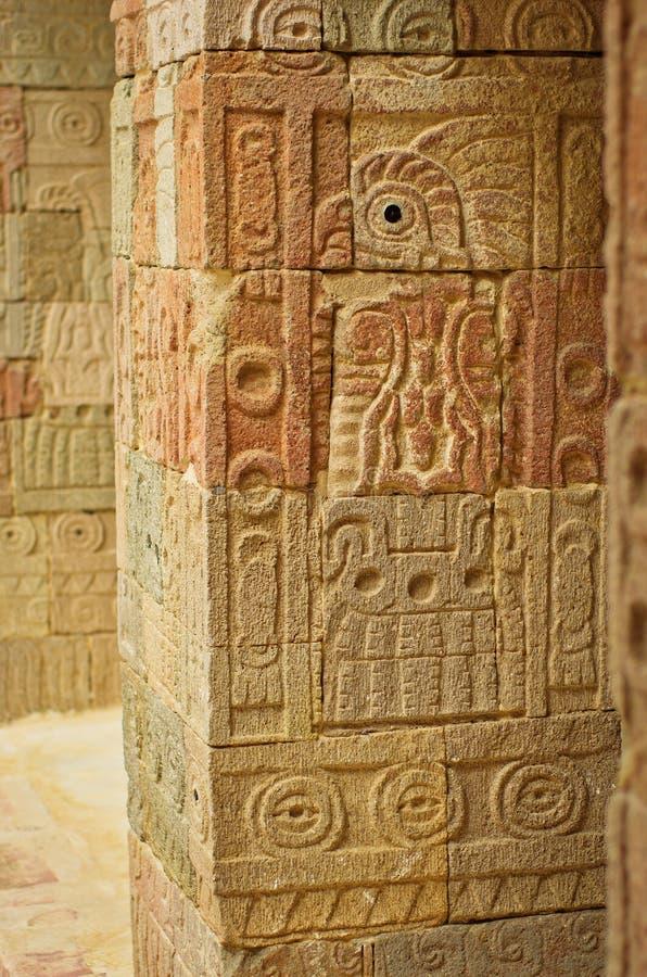 Patio of the Pillars Patio de los Pilares, Teotihuacan royalty free stock image