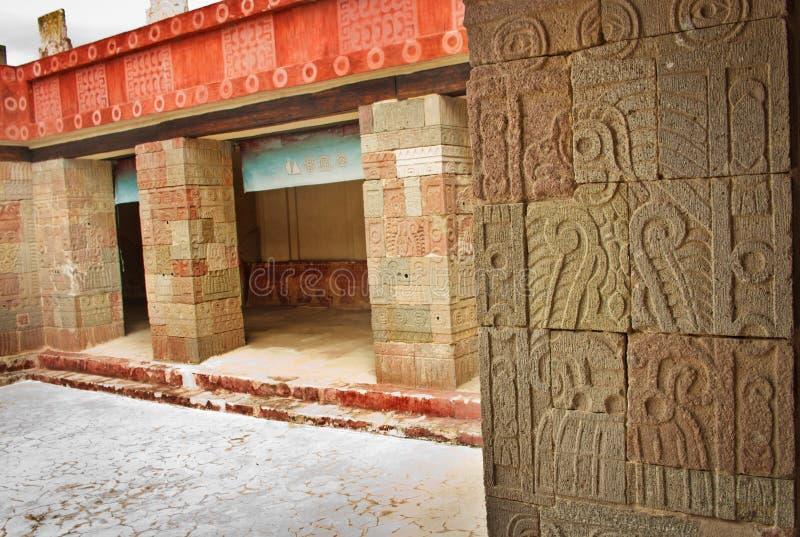 Patio of the Pillars Patio de los Pilares, Teotihuacan stock image