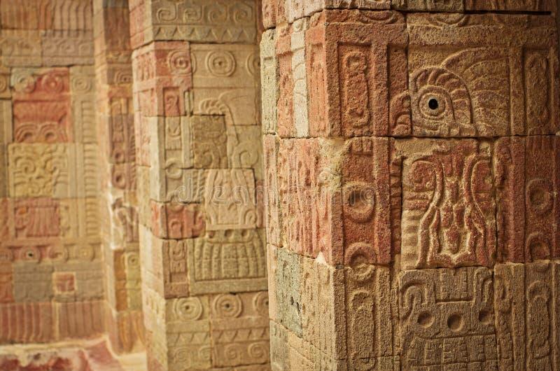 Patio of the Pillars Patio de los Pilares, Teotihuacan stock photo