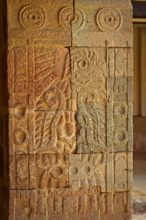 Patio of the Pillars Patio de los Pilares, Teotihuacan royalty free stock images