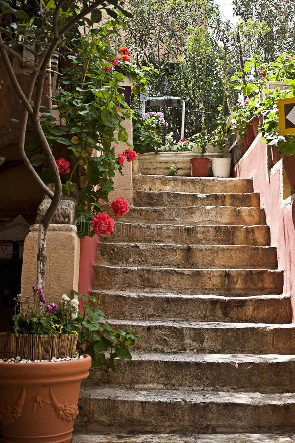 Download Patio Steps In Mediterranean Style. Stock Image   Image: 19946913