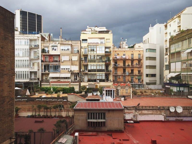 Patio urbano imagenes de archivo