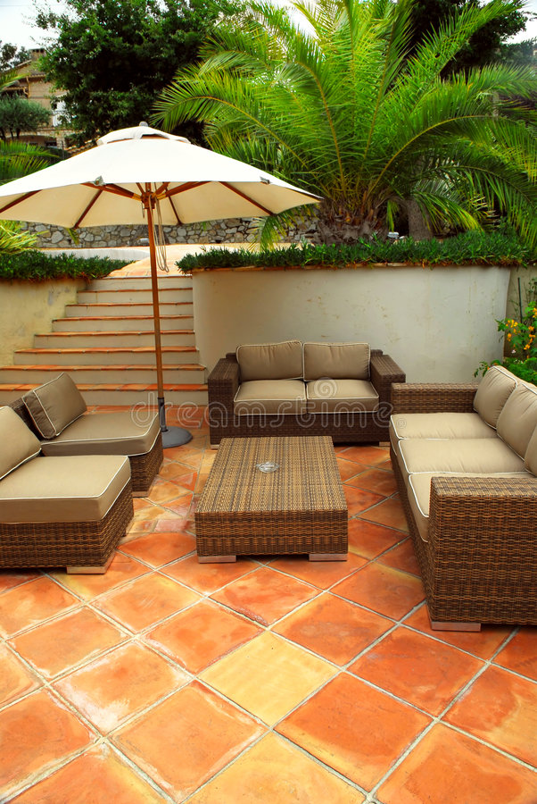 Download Patio of a villa stock photo. Image of furnishings, house - 4574288