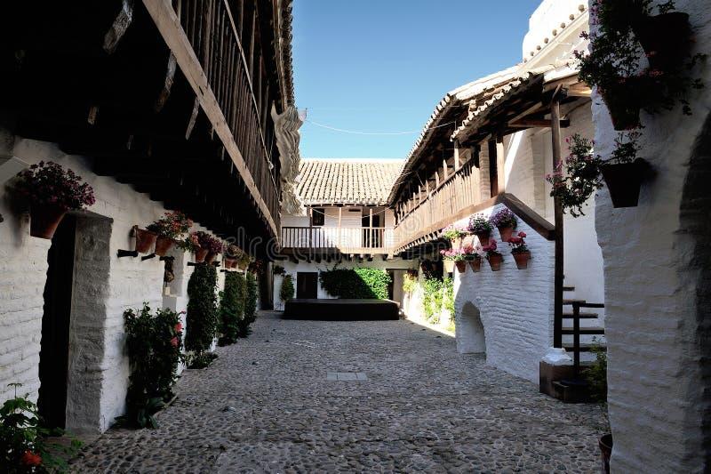 Patio von Posada Del Potro, Cordoba, Spanien lizenzfreie stockfotografie