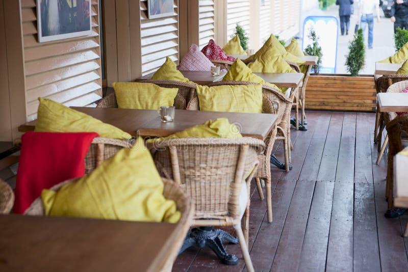 patio włoska restauracja zdjęcia stock