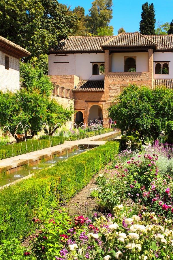 Patio w Alhambra obrazy royalty free