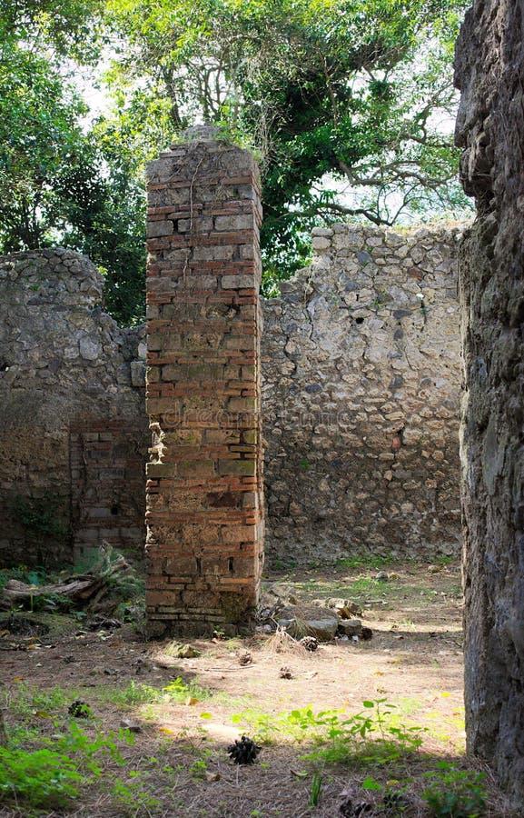 Patios traseros de Pompeji-VIII- Italia imagen de archivo