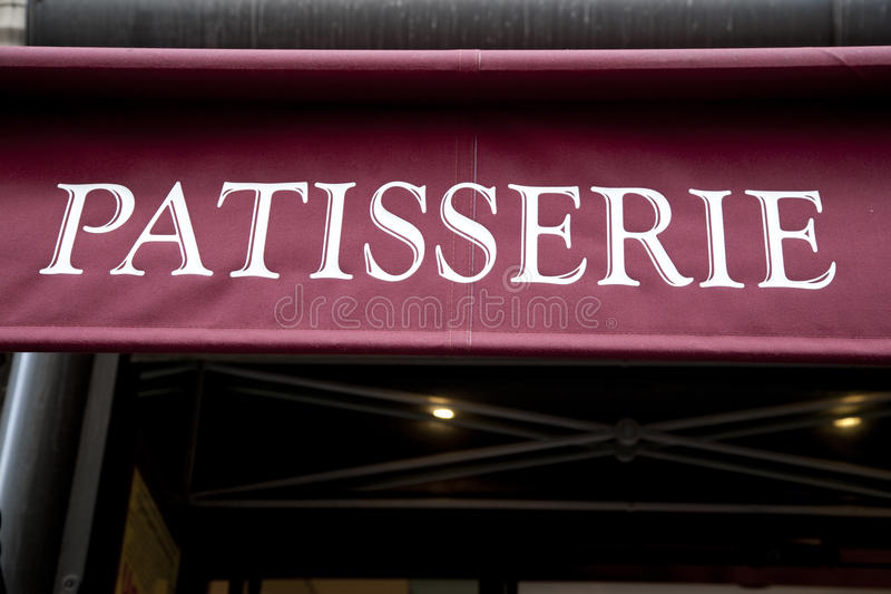 Patisserie Sign stock images