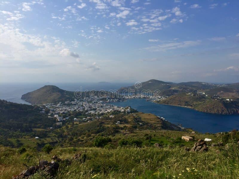 Patmos, Grécia imagens de stock