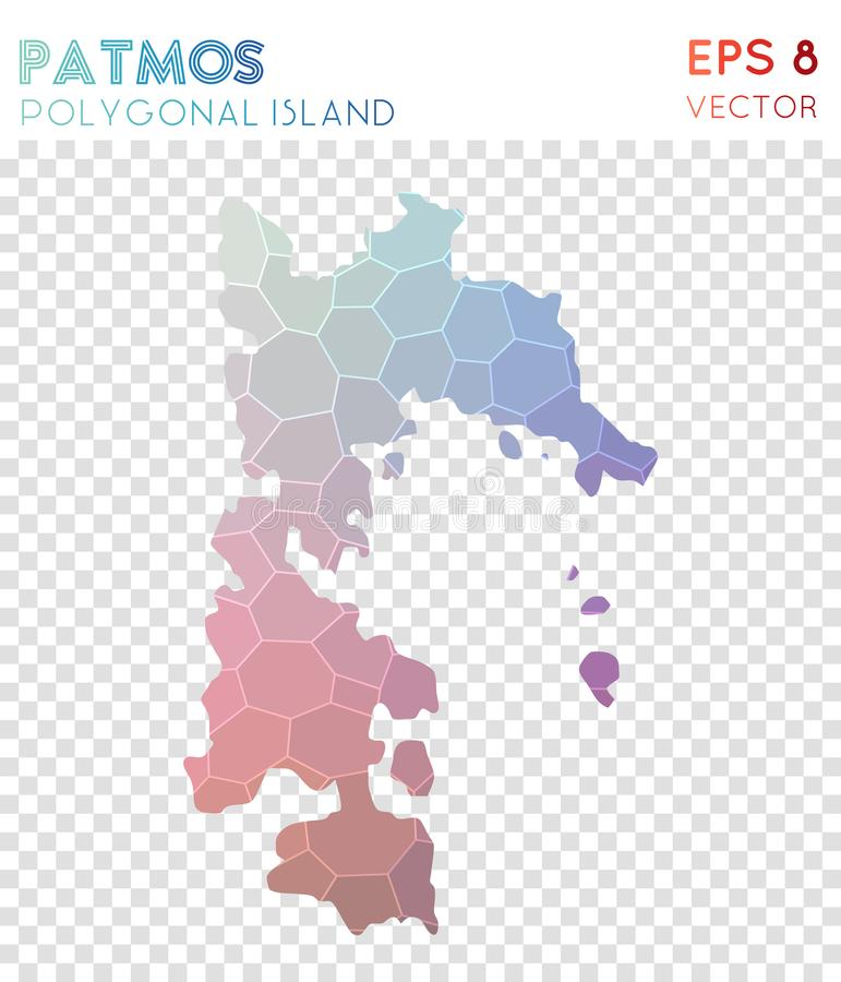 Download Patmos Polygonal Map, Mosaic Style Island. Stock Vector    Illustration Of Border,