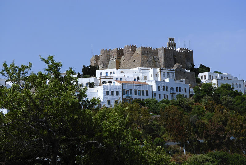 Patmos wyspa, Grecja fotografia stock