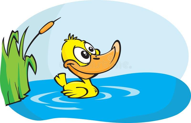 Pato amarelo pequeno ilustração do vetor
