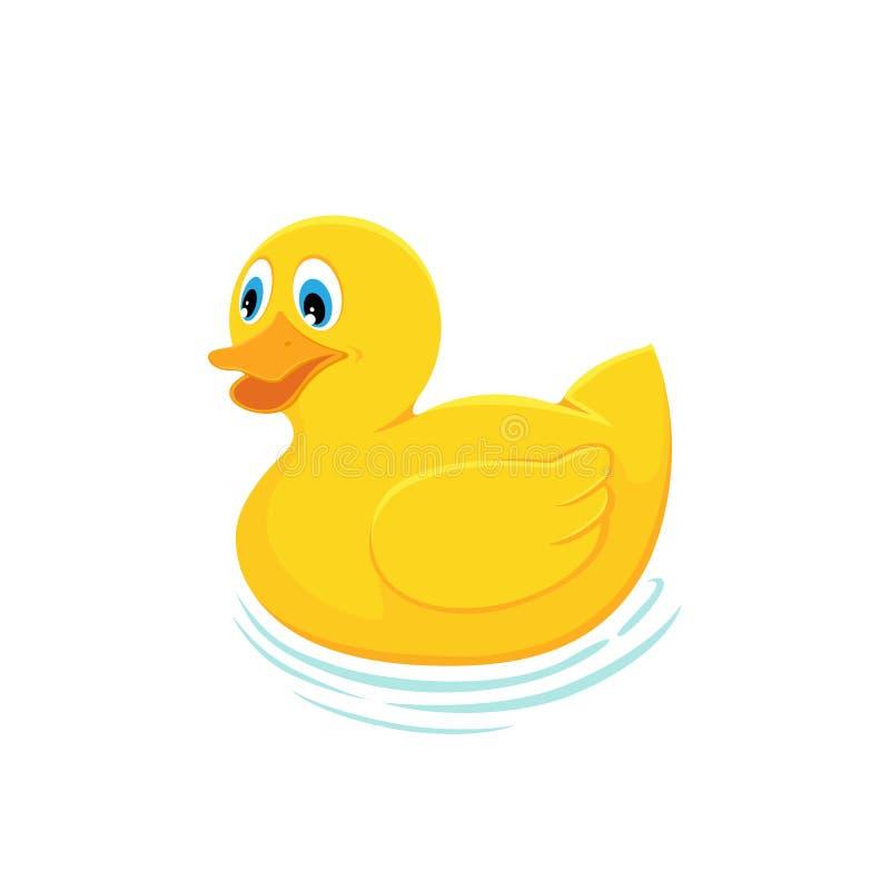 Pato de borracha amarelo ilustração royalty free