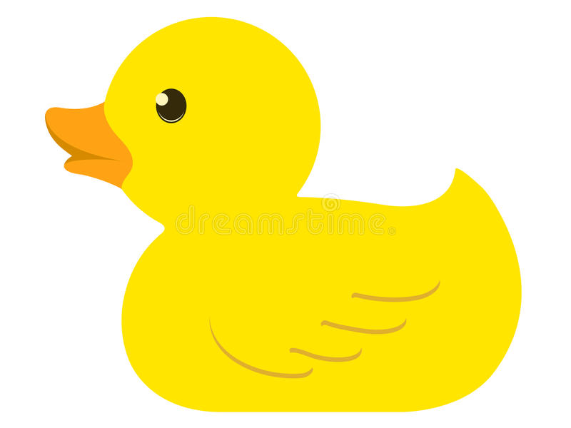 Pato de borracha isolado ilustração royalty free