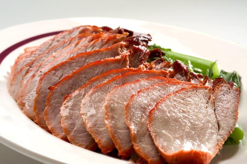Pato de carne asada en la placa foto de archivo libre de regalías
