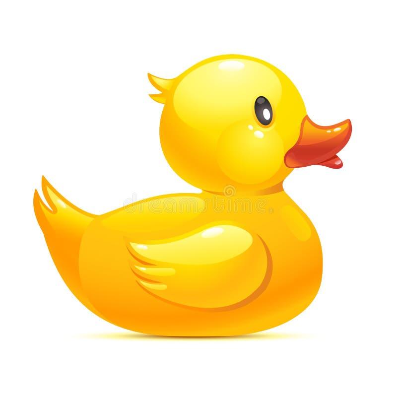 Pato de goma ilustración del vector
