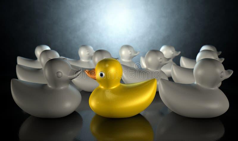 Pato de goma contra el flujo libre illustration