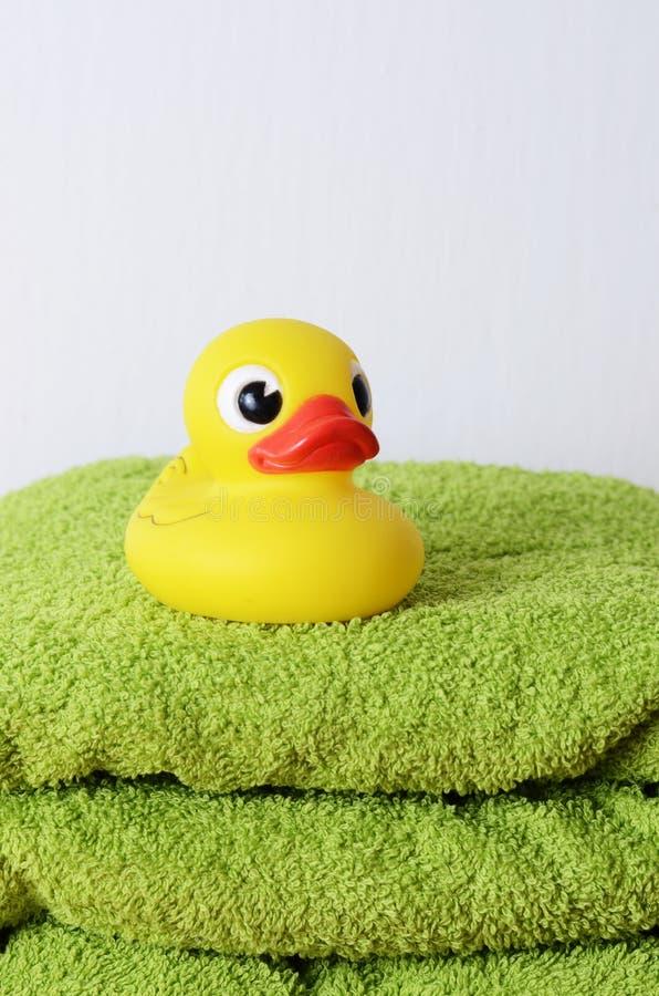 Pato del baño fotografía de archivo