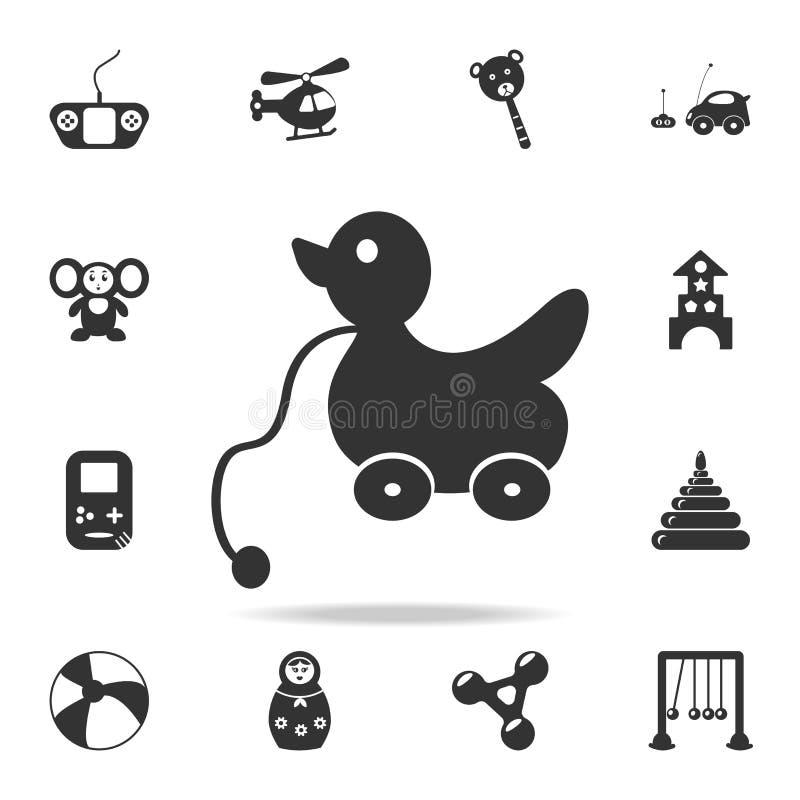 pato en las ruedas El sistema detallado del bebé juega iconos Diseño gráfico de la calidad superior Uno de los iconos de la colec stock de ilustración