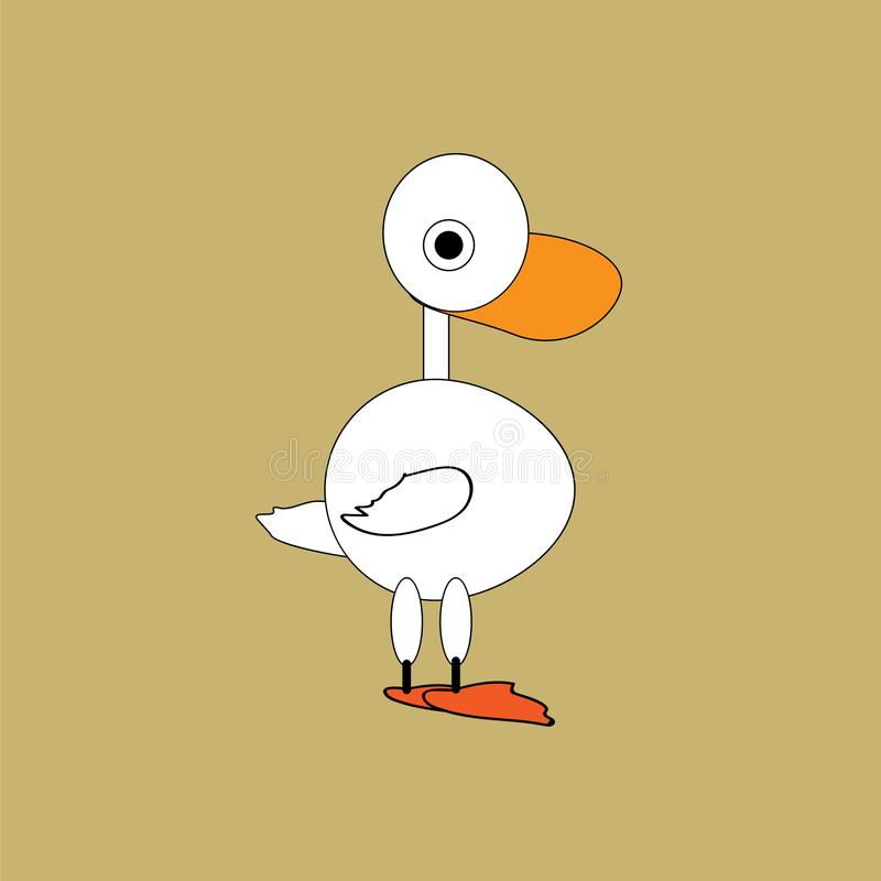 Pato, ganso - ejemplo del vector libre illustration
