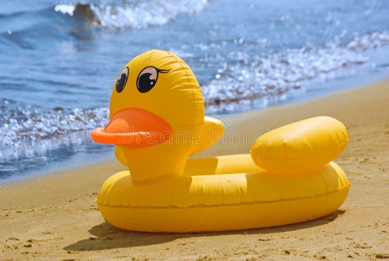 Pato inflável fotografia de stock royalty free
