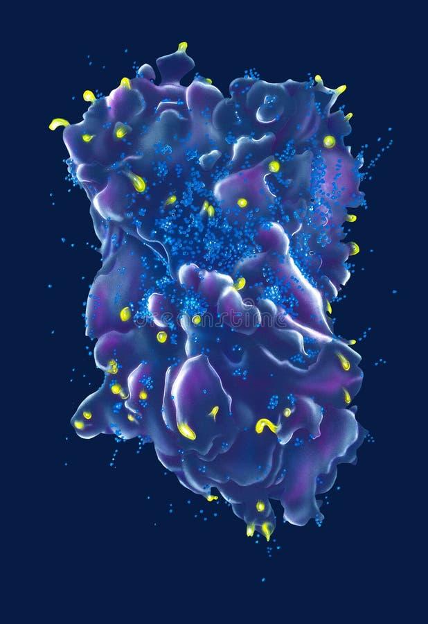 Patogênese do VIH ilustração do vetor