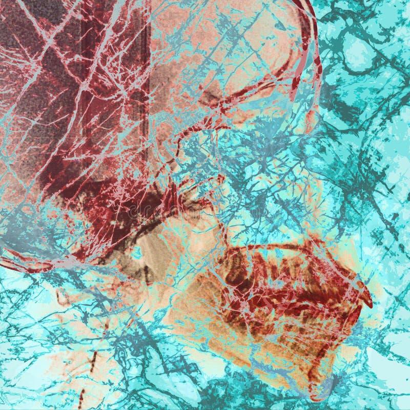 Patogenabstrakt begrepp med bakgrund för röntgenstrålefilm på dubbel exponering fotografering för bildbyråer