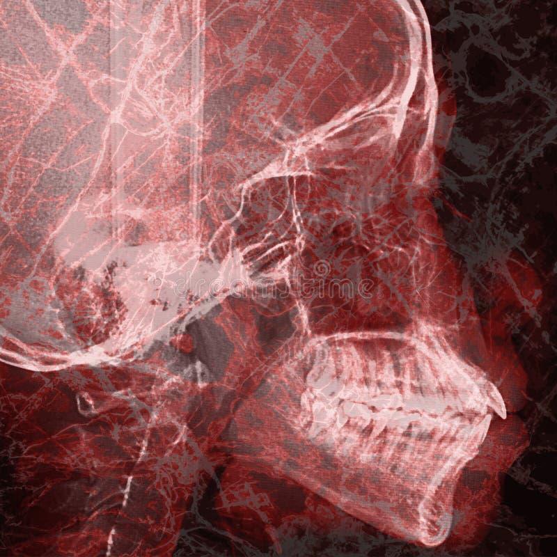 Patogenabstrakt begrepp med bakgrund för röntgenstrålefilm på dubbel exponering arkivbild