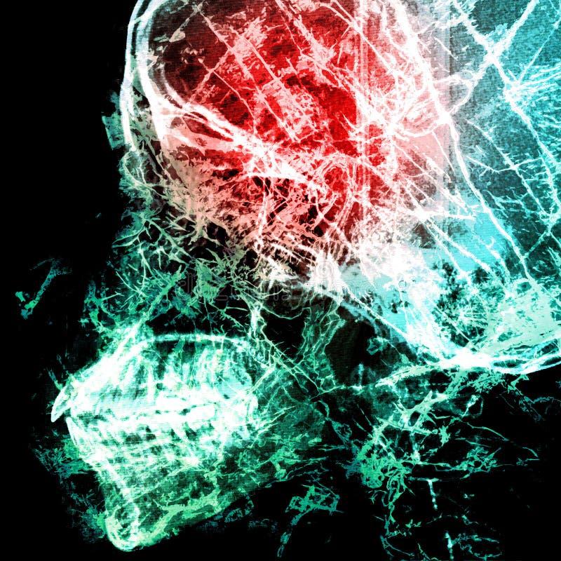 Patogenabstrakt begrepp med bakgrund för röntgenstrålefilm på dubbel exponering arkivfoton