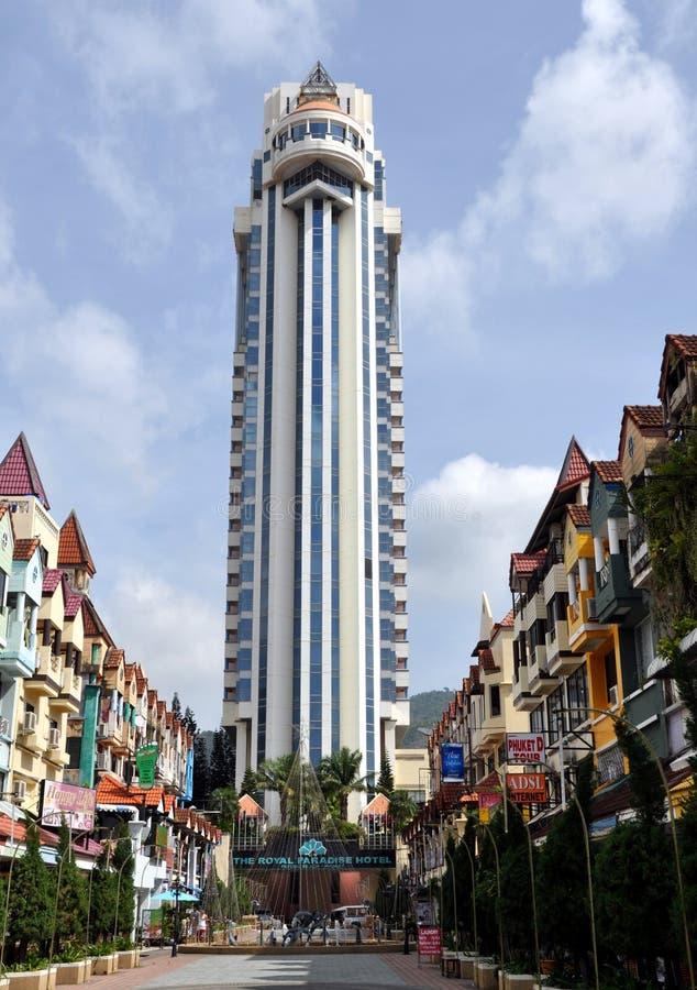 Patong, Tailândia: Hotel real do paraíso imagem de stock royalty free