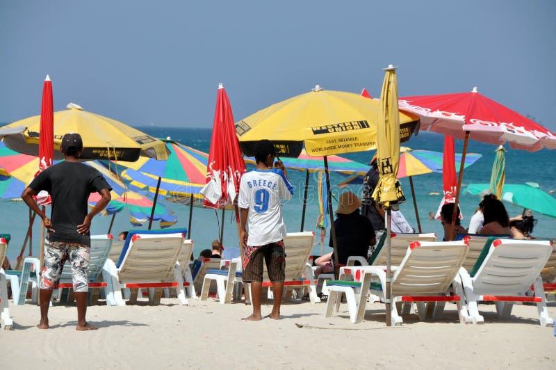 Patong, Tailandia: Playa pacífica de Patong fotos de archivo
