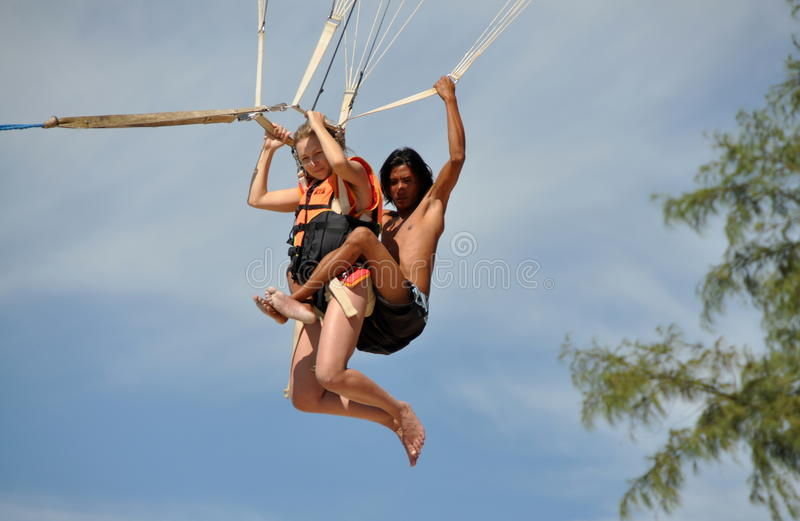 Download Patong, Thailand: Couple Parasailing Editorial Photography - Image: 18745612
