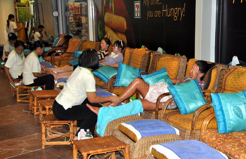 Patong, Thailand: Foot Massage Spa royalty-vrije stock afbeeldingen
