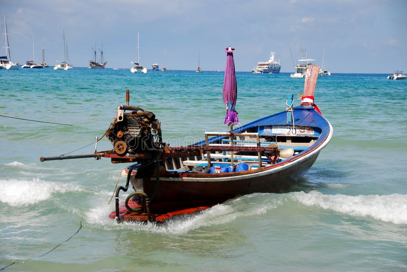 Download Patong, Thailand: Thai Longboat In Ocean Editorial Stock Photo - Image: 18720108