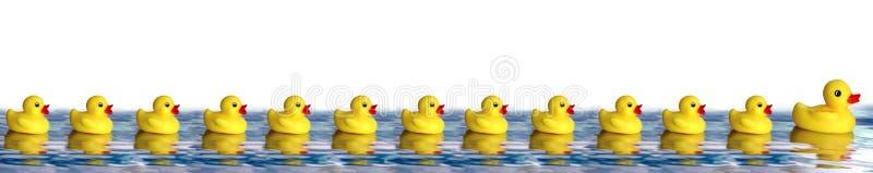 Patos de goma ilustración del vector