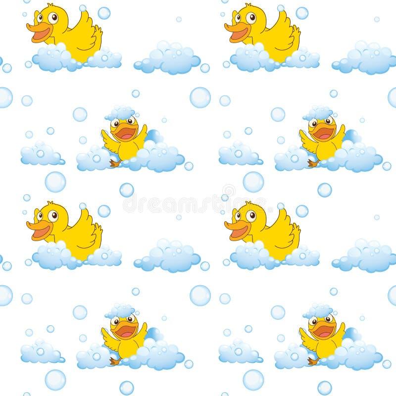 Patos e nuvens ilustração do vetor