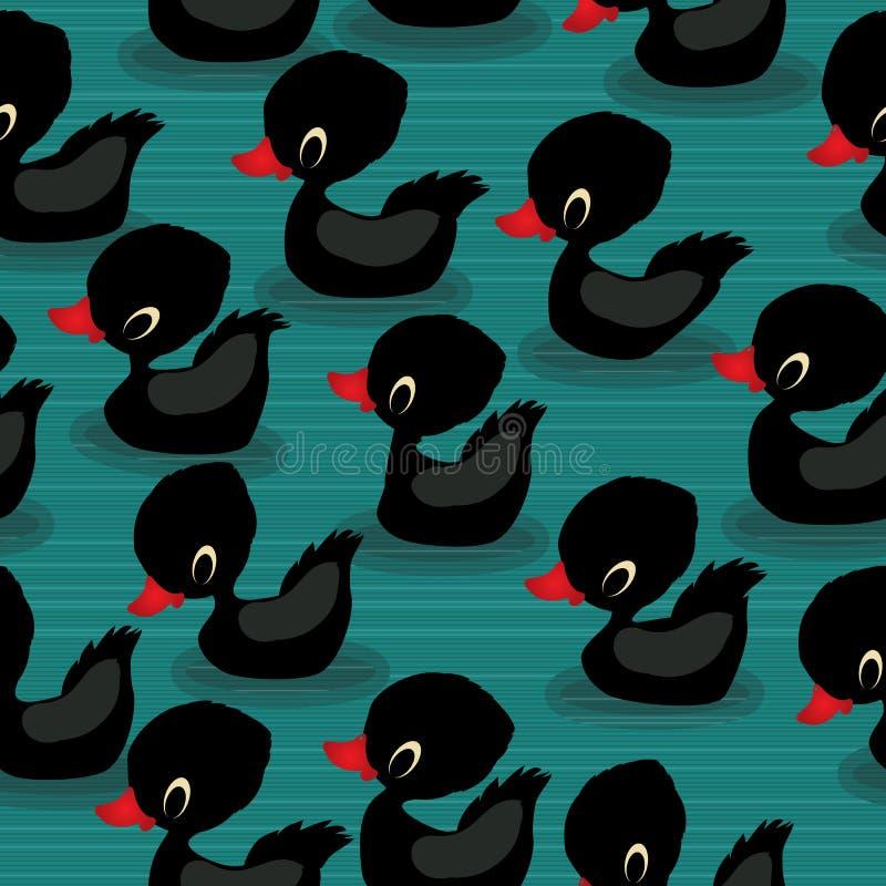 Patos negros del bebé ilustración del vector