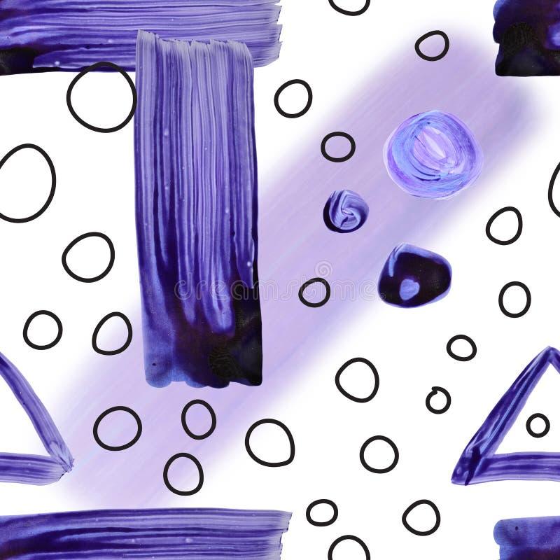 Patrón estacionario geométrico de color creativo pintado a mano. collage. Diseño para impresiones, carteles y tarjetas imagen de archivo libre de regalías