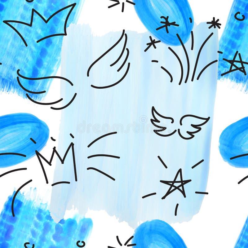 Patrón estacionario geométrico de color creativo pintado a mano. collage. Diseño para impresiones, carteles y tarjetas fotos de archivo libres de regalías