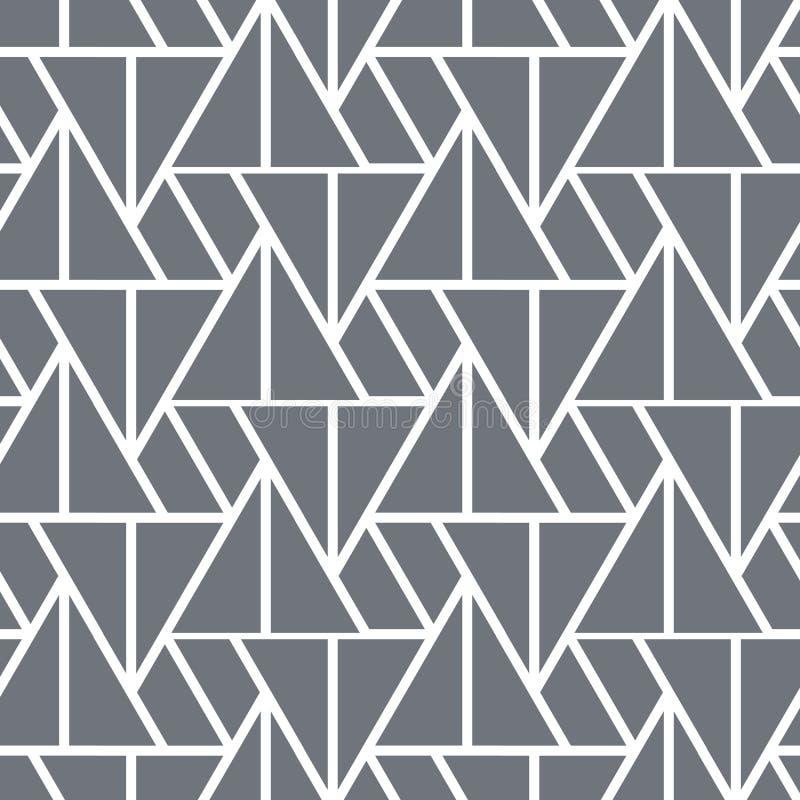 Patrón vectorial geométrico, triángulo lineal repetido de diferente tamaño. Limpieza gráfica para tela, papel pintado, impres libre illustration