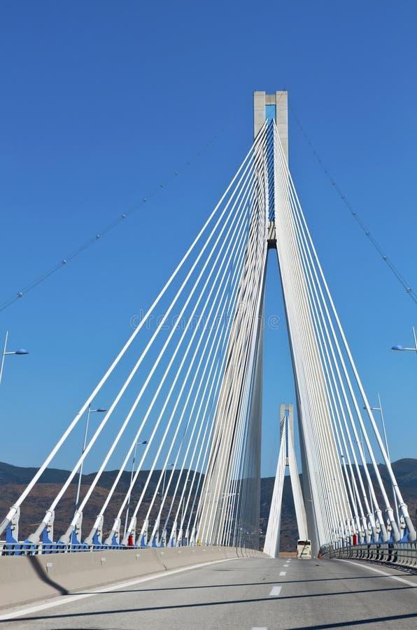 patra Греции города кабеля моста стоковое фото